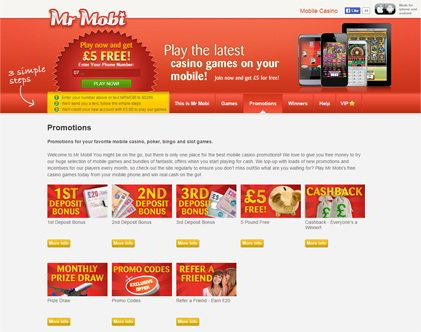 Get Monthly Incentives for Our Players at Mr Mobi Casino Games